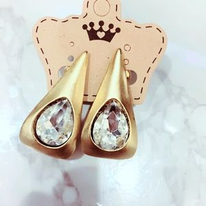 Clip ONs Statement Gold Tone Bling